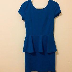 Textured peplum dress NWOT